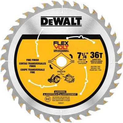 FLEXVOLT 7-1/4 in. 36-Teeth Carbide-Tipped Circular Saw Blade