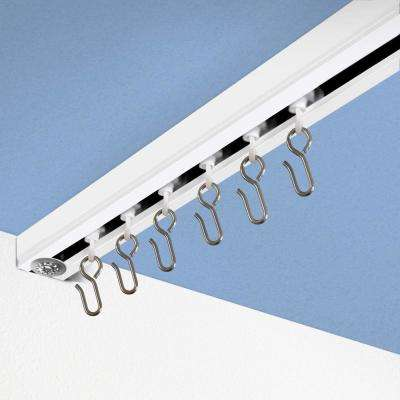 RoomDividersNow Ceiling Track Set 6 ft. to 12 ft. Medium for Spaces Wide in White