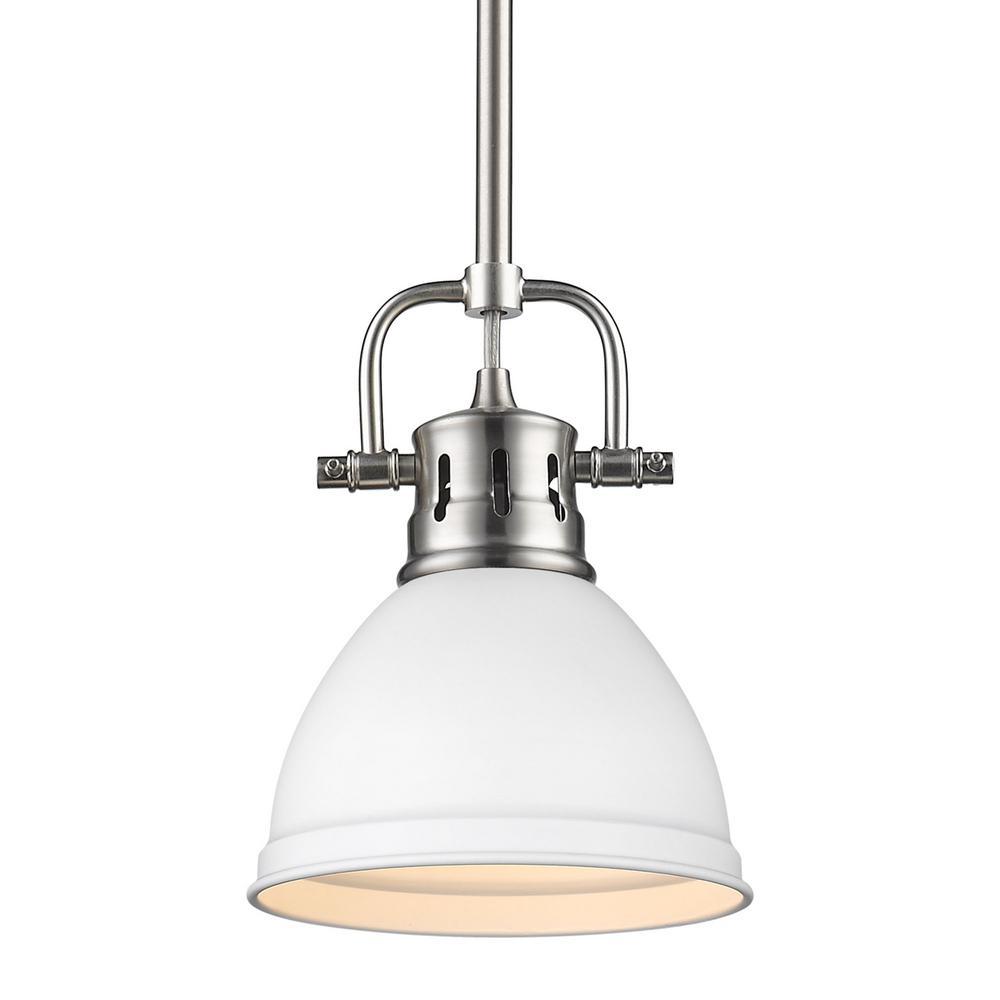 Duncan 1-Light Pewter Mini Pendant