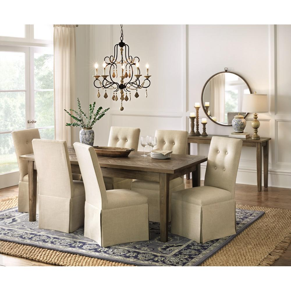 Home Decorators Collection Parquetry French Grey Extendable Dining  Table 9528700270   The Home Depot