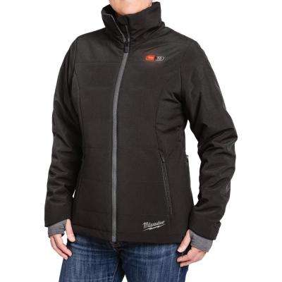 Women's Medium M12 12-Volt Lithium-Ion Cordless Black Heated Jacket Kit