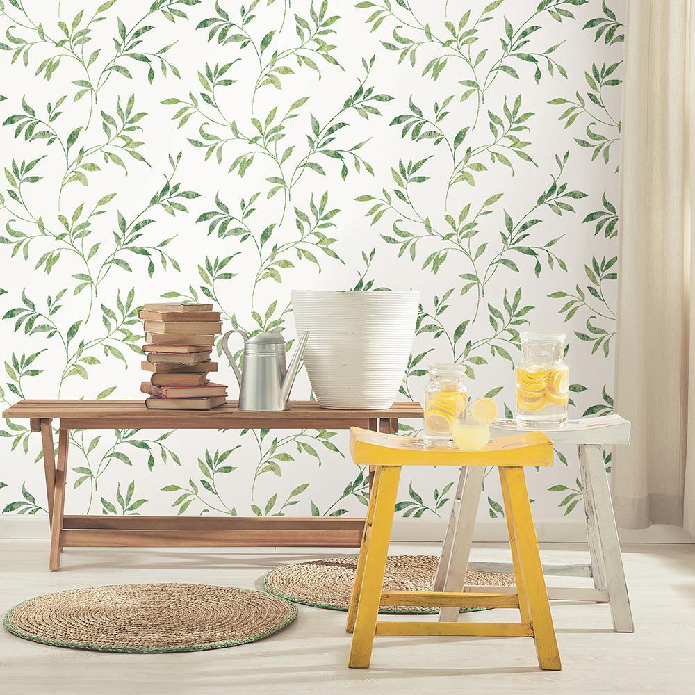 56.4 sq. ft. Sanibel Green Trail Wallpaper