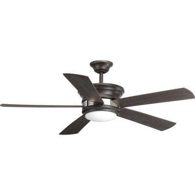 Harranvale Collection 54 in. LED Graphite Ceiling Fan