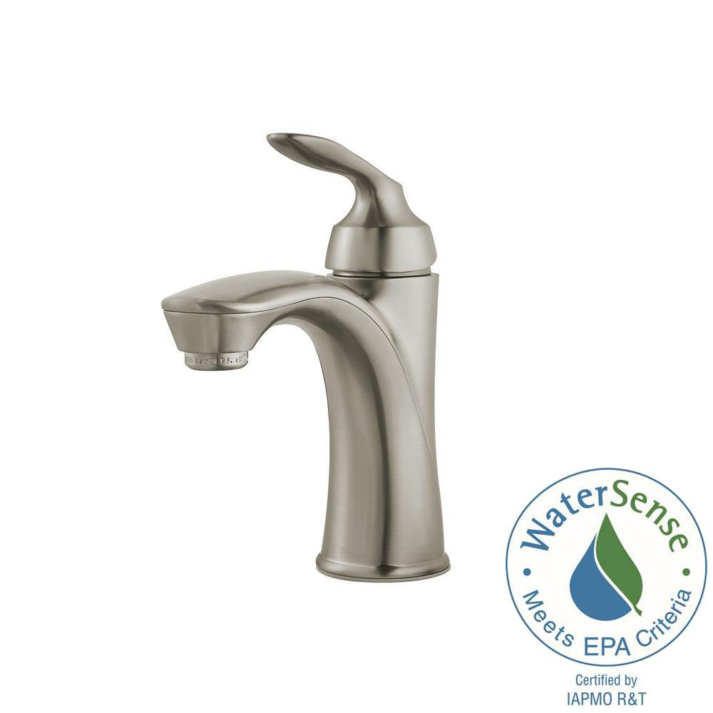 Pfister Avalon Single Hole Single-Handle Bathroom Faucet in Brushed ...