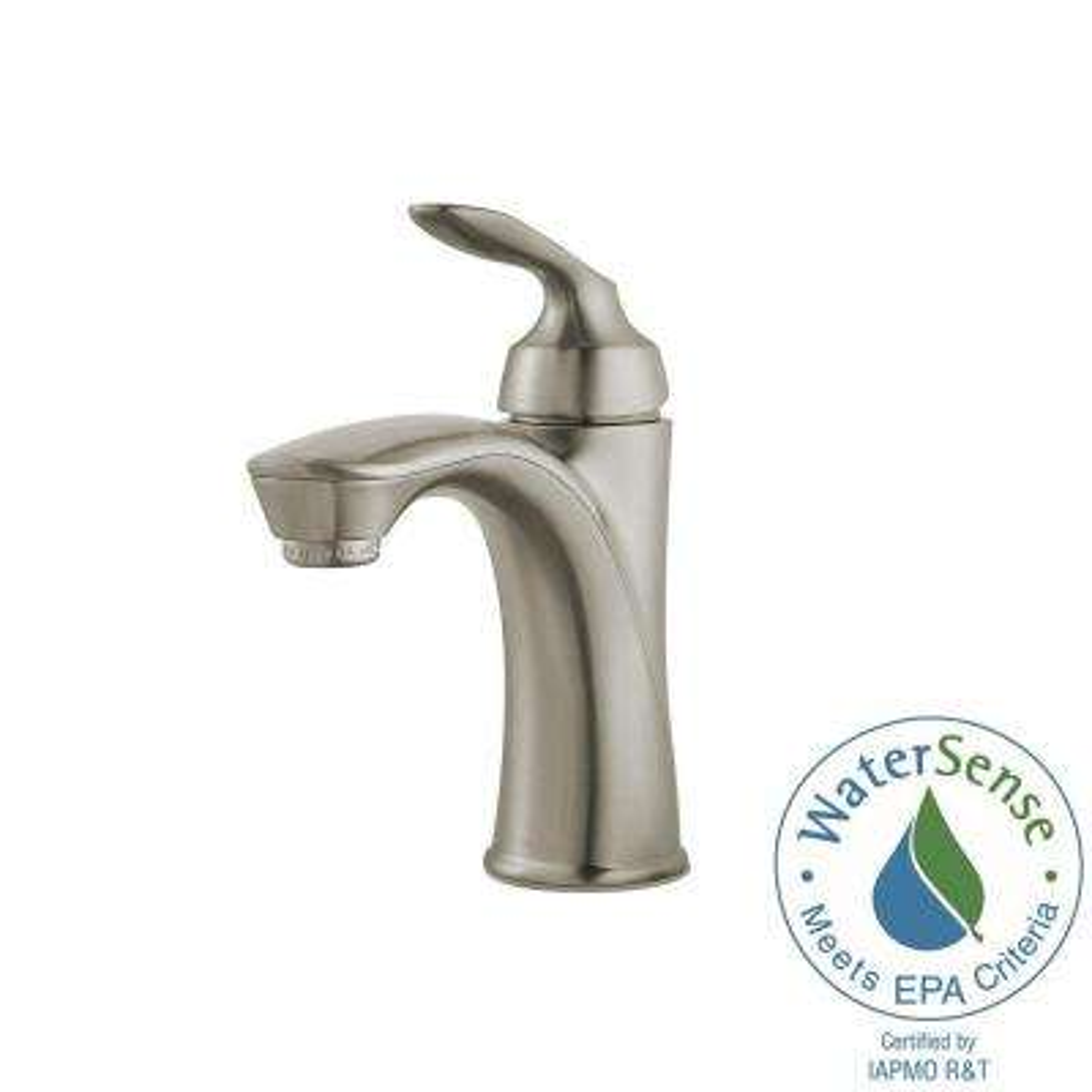 Avalon Single Hole Single-Handle Bathroom Faucet in Brushed Nickel