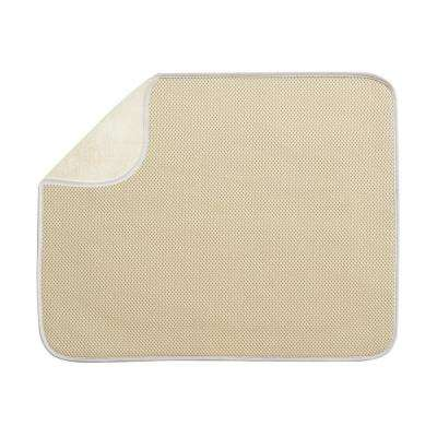 iDry 18 in. x 16 in. Large Kitchen Mat in Wheat/Ivory