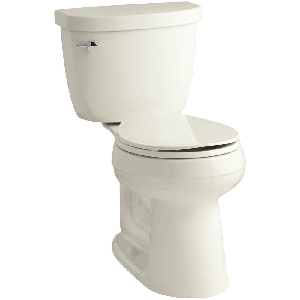 Cimarron Comfort Height 2-piece 1.6 GPF Round Toilet with AquaPiston Flush Technology in Biscuit