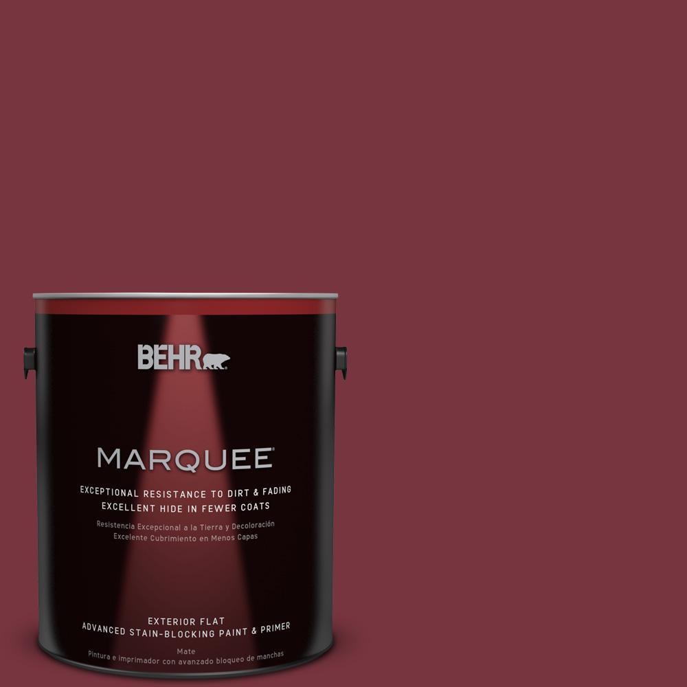 BEHR 1-gal. #150F-7 Burnt Tile Flat Exterior Paint, Reds/...