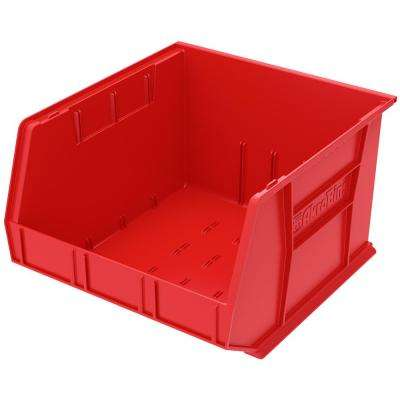 AkroBin 16.5 in. 75 lbs. Storage Tote Bin in Red with 11 Gal. Storage Capacity