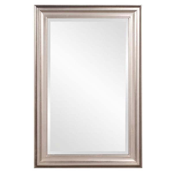 Unbranded 18 In W X 30 In H Framed Rectangular Bathroom Vanity Mirror In Brushed Nickel 53048 The Home Depot