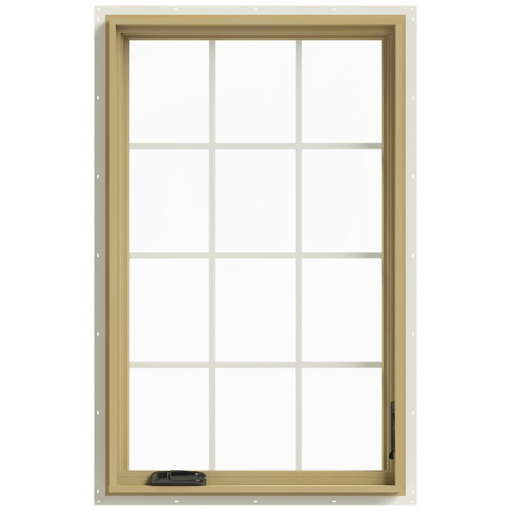 30 in. x 48 in. W-2500 Right-Hand Casement Aluminum Clad Wood
