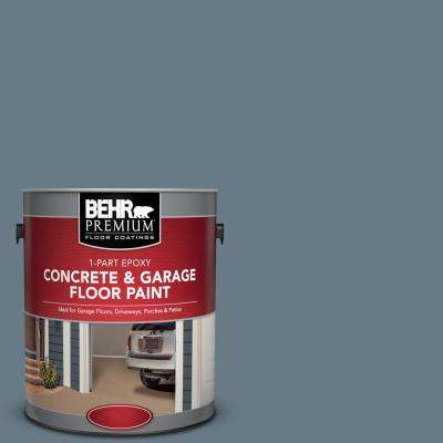 1 gal. #N490-5 Charcoal Blue 1-Part Epoxy Satin Interior/Exterior Concrete and Garage Floor Paint