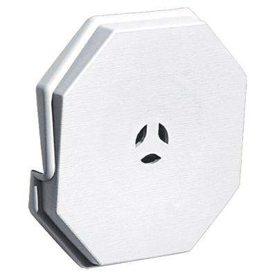 6.625 in. x 6.625 in. #001 White Surface Mounting Block