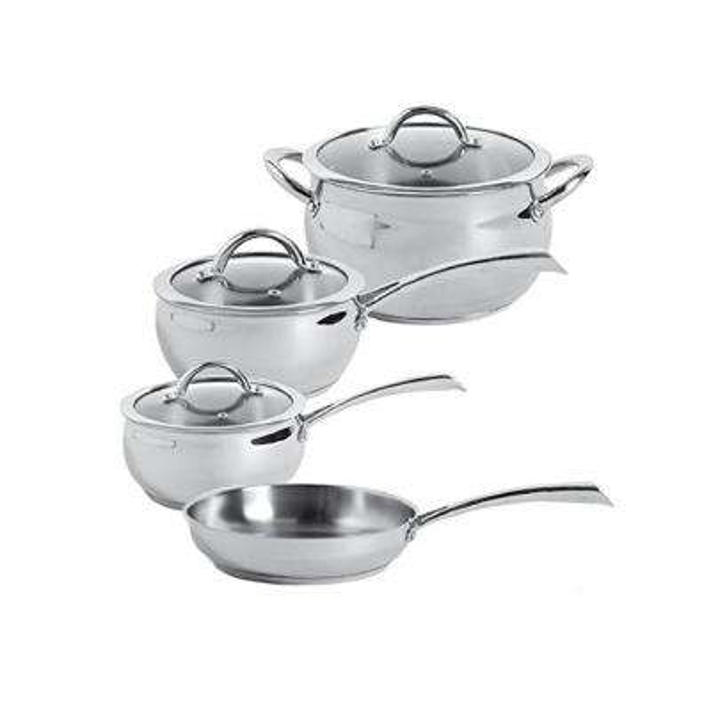 Derrick 7-Piece Stainless Steel Cookware Set