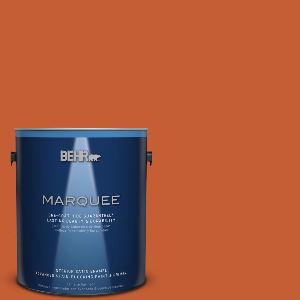 1 gal. #T18-02 Civara Satin Enamel Interior Paint