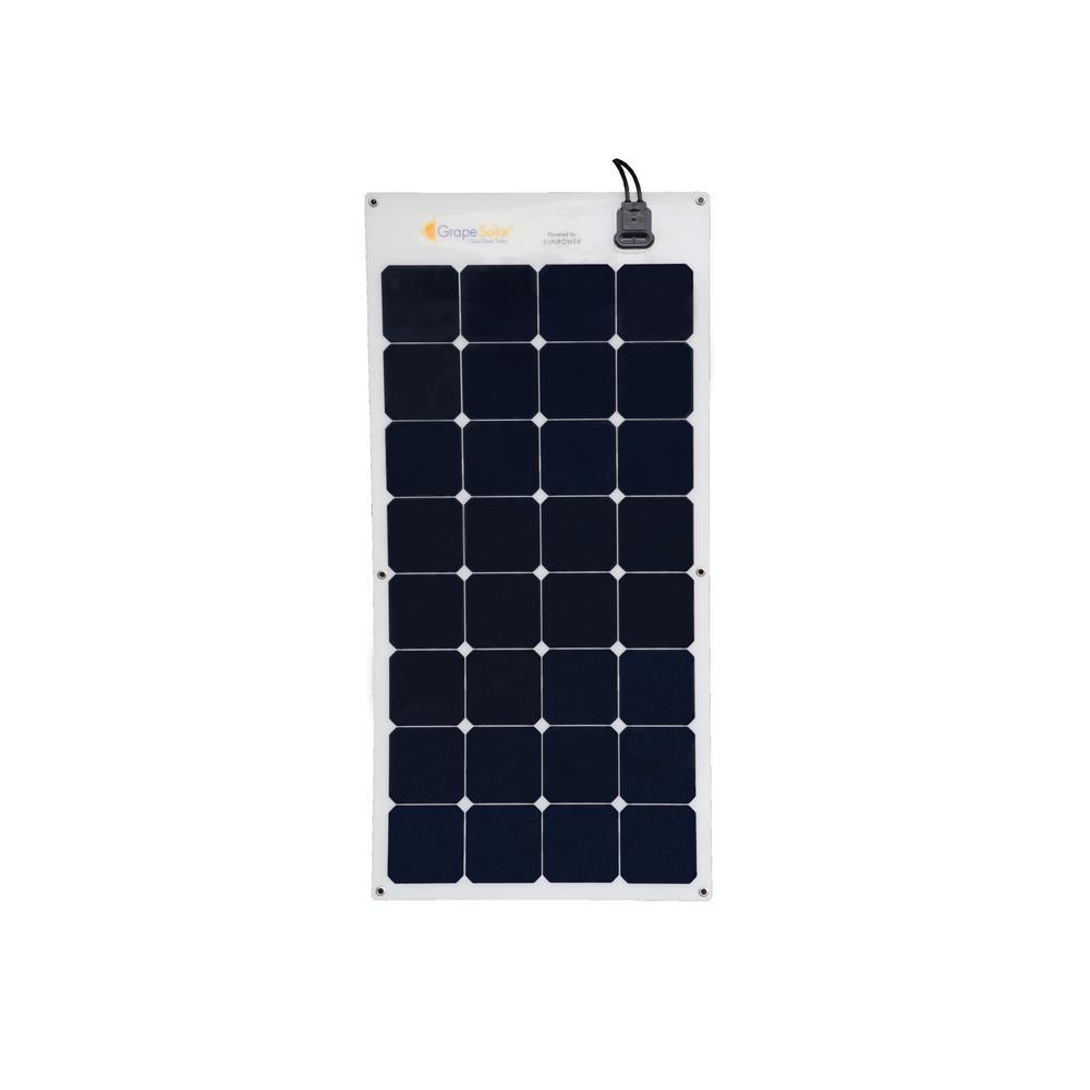 Grape Solar 100-Watt Flexible Monocrystalline Solar Panel