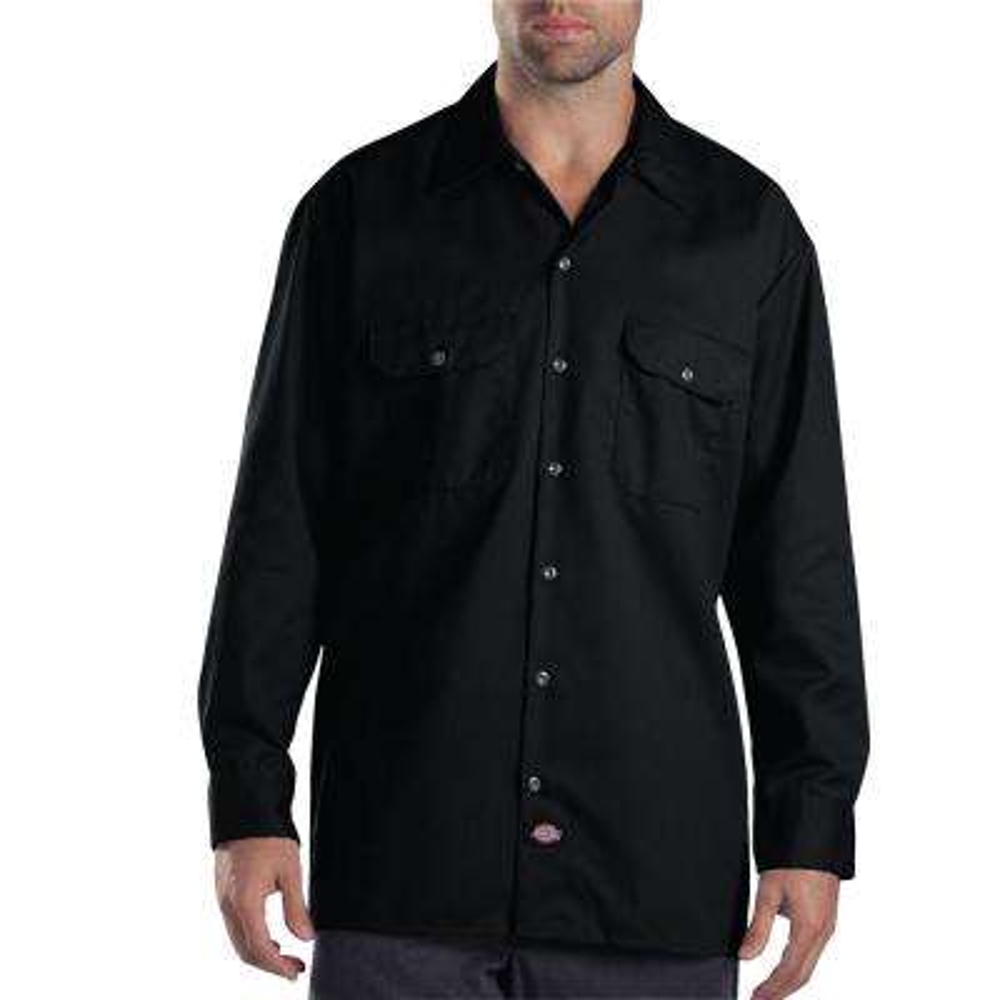 Men's X-Large Black Long Sleeve Work Shirt