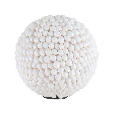 10 in. Hermit Shell Ball Decorative Figurine in White