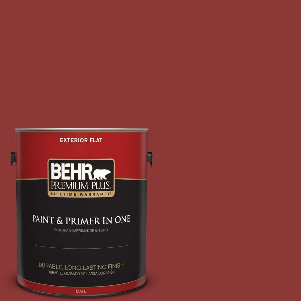 BEHR Premium Plus 1-gal. #PPF-40 Rocking Chair Red Flat Exterior Paint