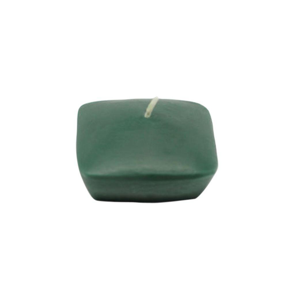 2.25 in. Hunter Green Square Floating Candles (12-Box)