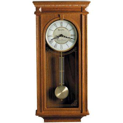 24.25 in. H x 11.25 in. W Pendulum Chime Wall Clock