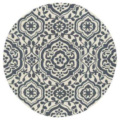 Evolution Grey 5 ft. 9 in. x 5 ft. 9 in. Round Area Rug