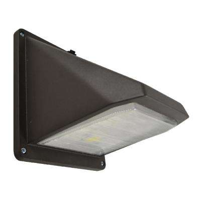 1 -Light Black Outdoor Integrated LED Wall Mount Sconce