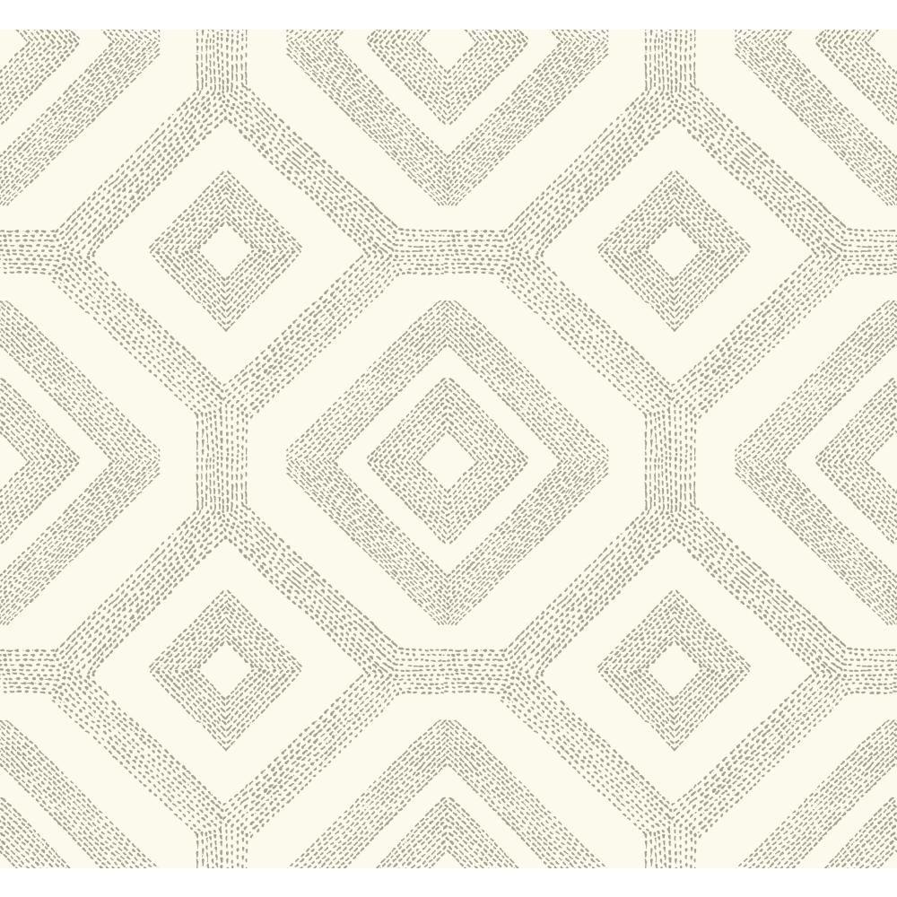 Modern Shapes French Knot Wallpaper