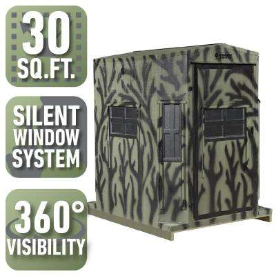 5 ft. x 6 ft. Octagon Combo Blind with 360° Sight and Shooting Visibility (Pre-Assembled)