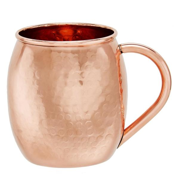 Old Dutch 16 Oz Hammered Solid Copper Moscow Mule Mug Set Of 2 433h The Home Depot