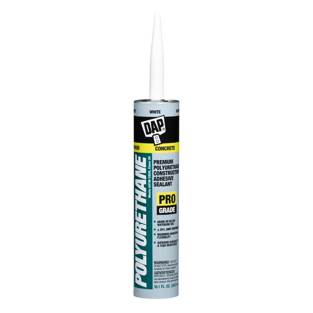 Dap Polyurethane 10 1 Oz White Premium Construction