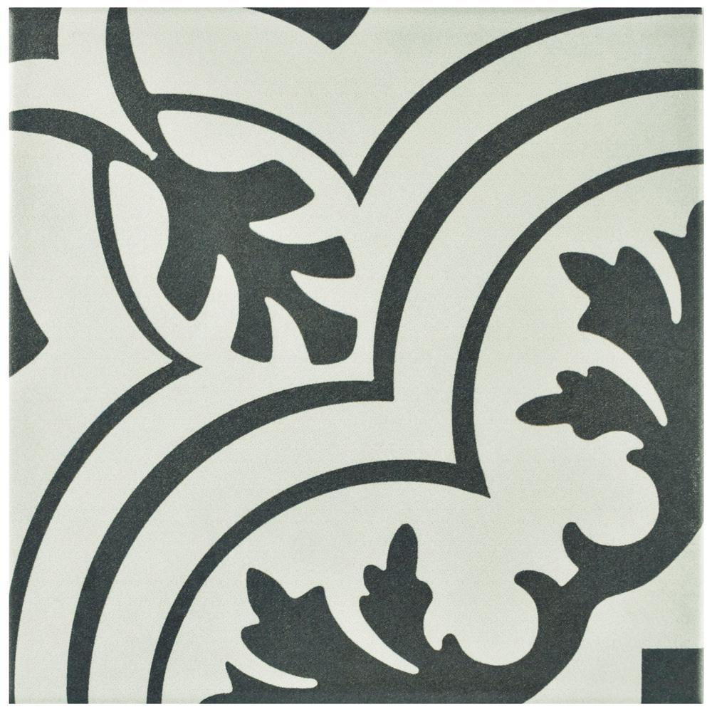 Merola Tile Twenties Vintage Encaustic Ceramic Floor and Wall Tile - 7-3/4 in. x 7-3/4 in. Tile Sample
