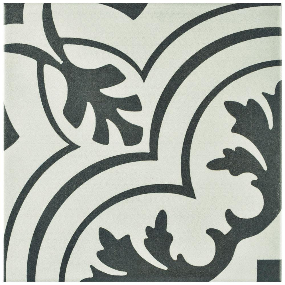 Merola Tile Twenties Vintage Encaustic Ceramic Floor and Wall Tile - 7-3/4 in. x 7-3/4 in. Tile Sample