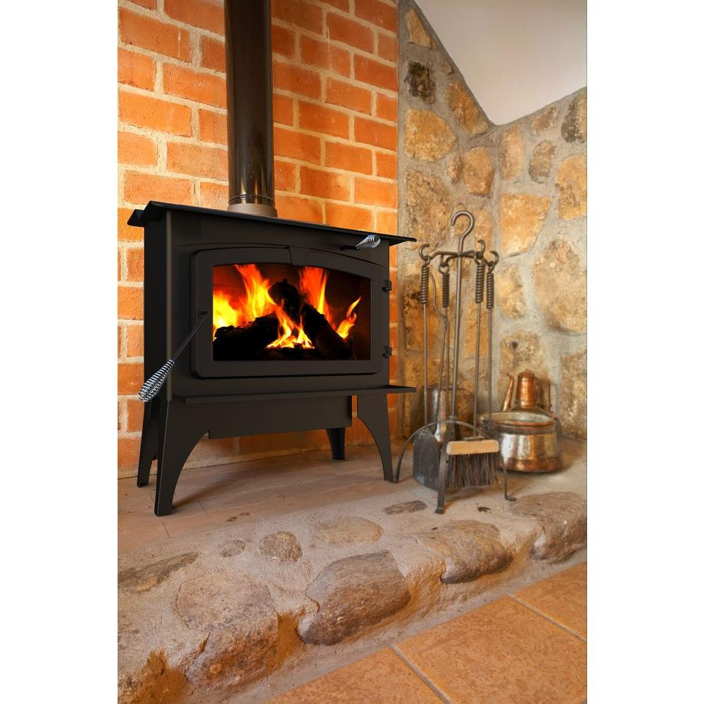 Pleasant Hearth 2 200 Sq Ft Epa Certified Wood Burning Stove With Er Large