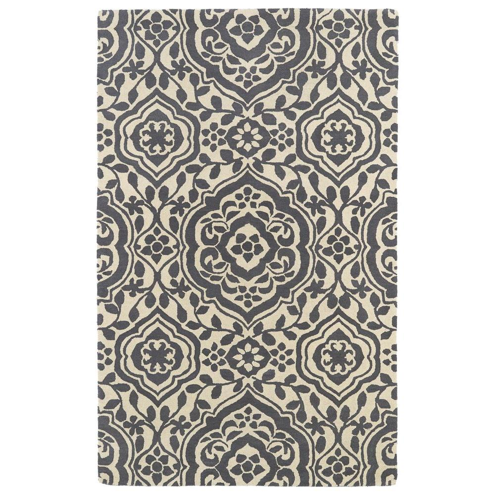 Kaleen Evolution Grey 8 ft. x 11 ft. Area Rug