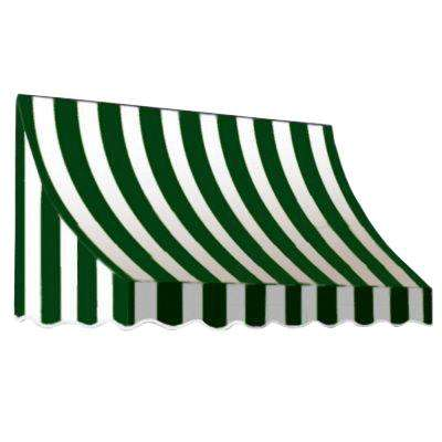 3 ft. Nantucket Awning (31 in. H x 24 in. D) in Forest/White Stripe