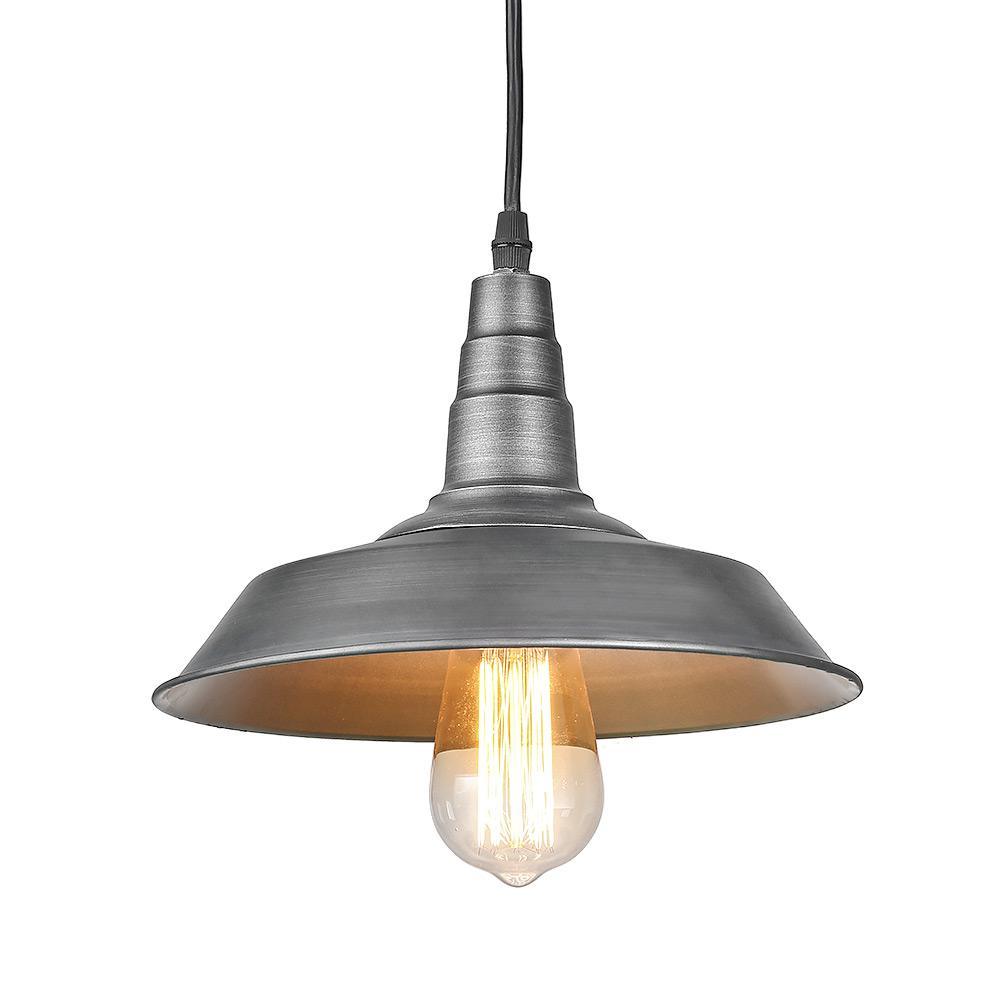1-Light Barn Silver Warehouse Pendant
