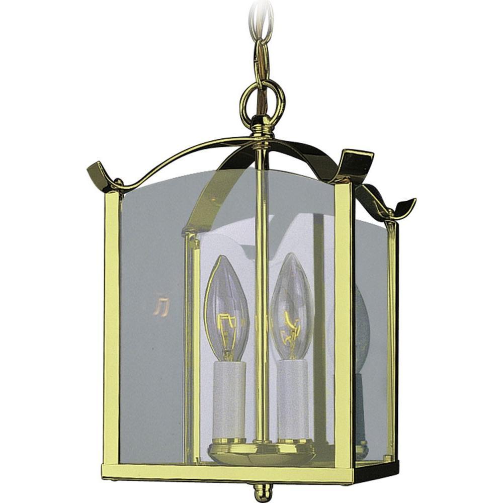2-Light Polished Brass Interior Pendant