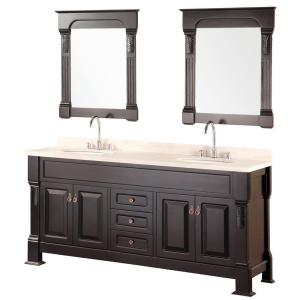 Design Element Marcos 72 inch W x 22 inch D Vanity in Espresso with Creme Marfil... by Design Element
