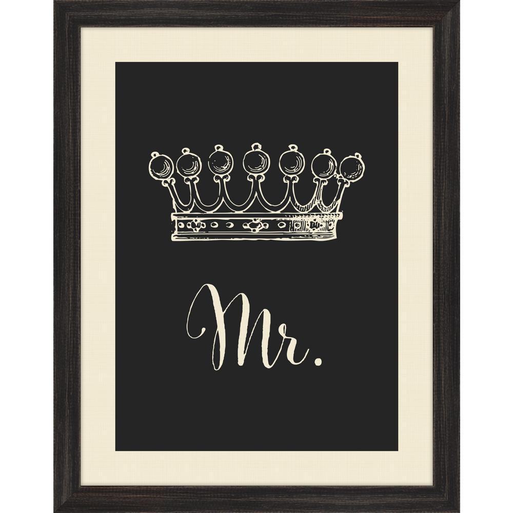 "29 in. x 23 in. ""Crown Mrs."" Framed Giclee Print Wall Art"