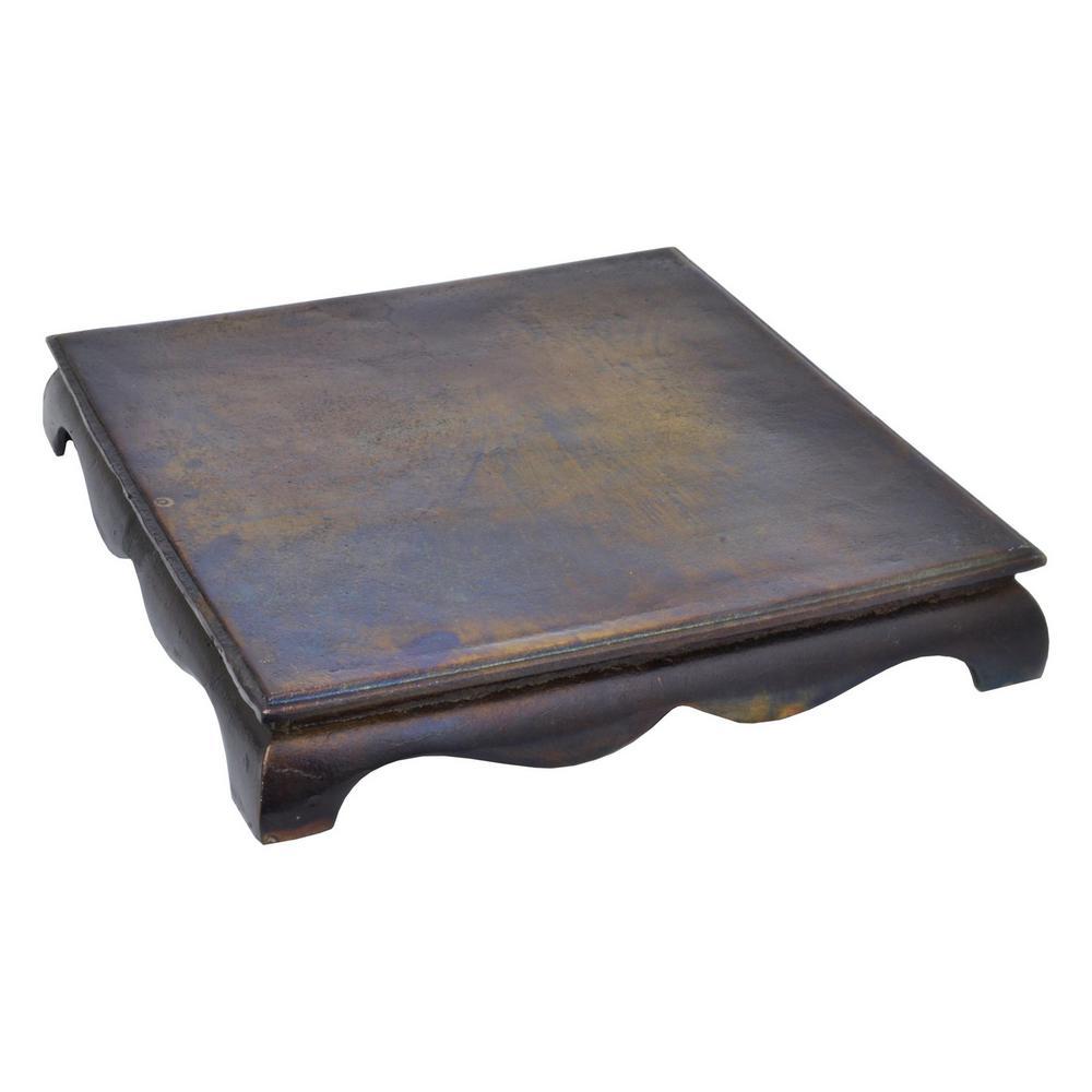 2.5 in. Metal Pedestal in Cobalt Blue