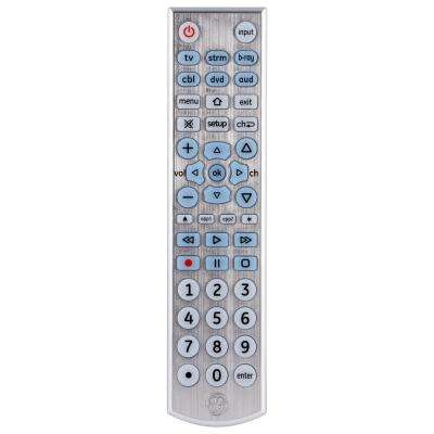 6 Device UltraPro Universal Remote Control, Brushed Silver