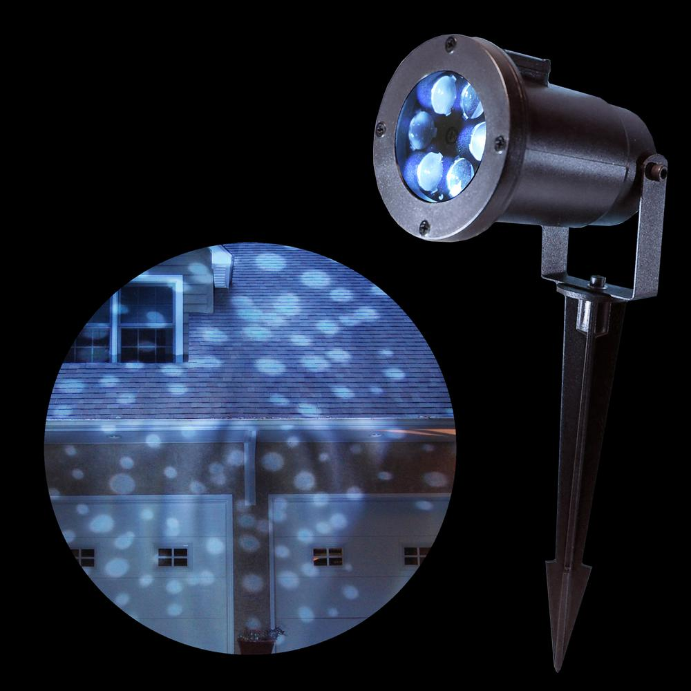 Lumabase 1-Light White Dots Projector Light-22601 - The Home Depot