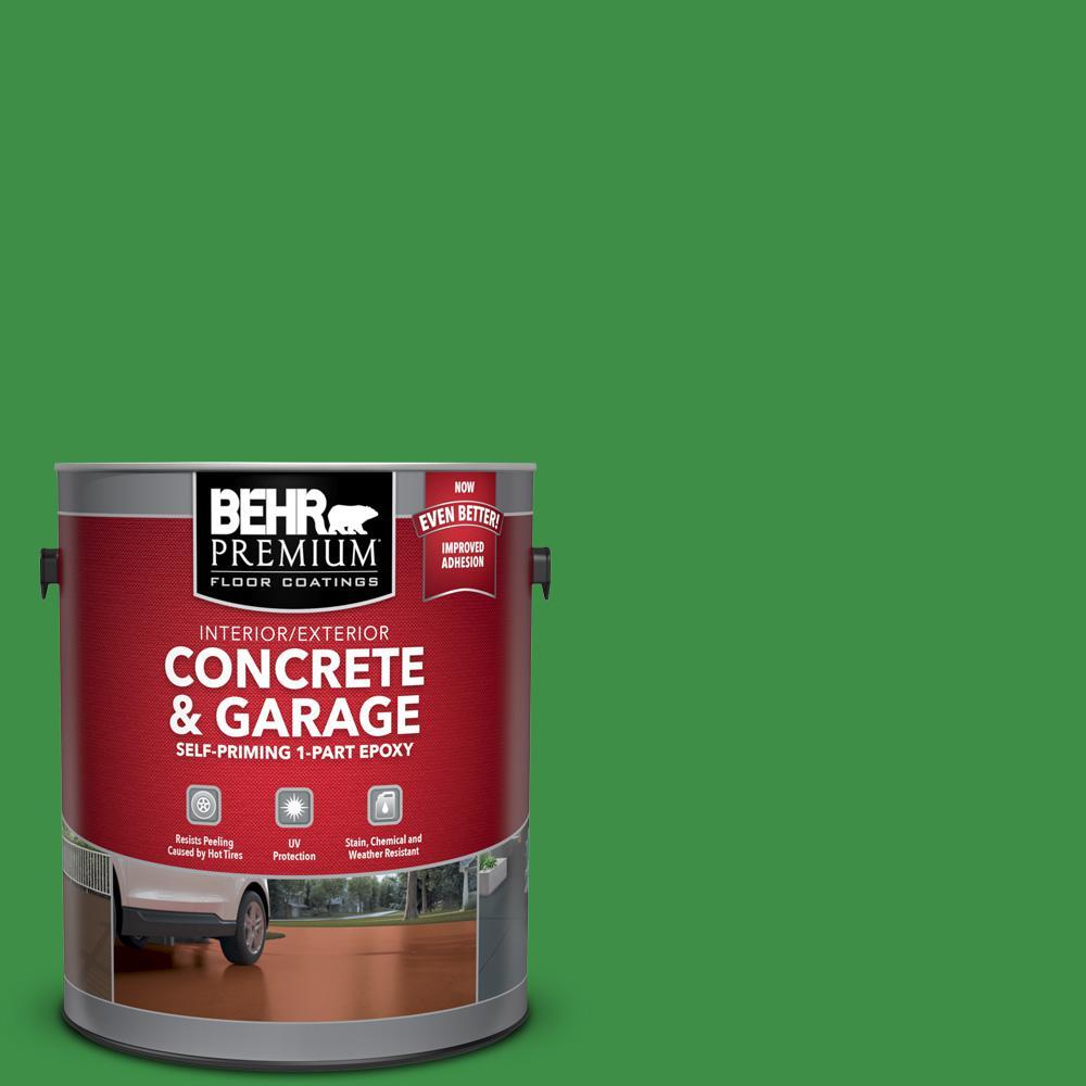 1 gal. #P390-7 Park Picnic Self-Priming 1-Part Epoxy Satin Interior/Exterior Concrete and Garage Floor Paint