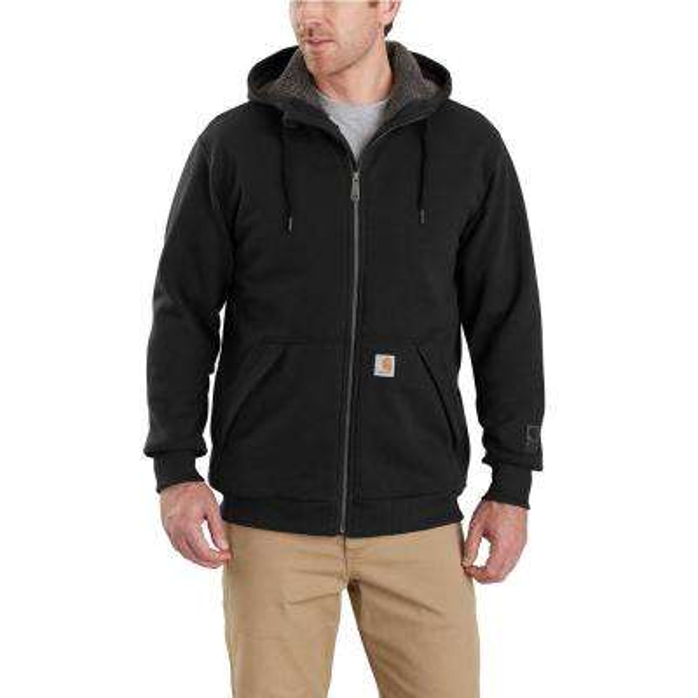 Men's XX-Large Black Cotton/Polyester Rain Defender Rockland Sherpa-Lined Hooded Sweatshirt