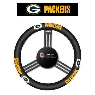 NFL Green Bay Packers Leather Steering Wheel Cover