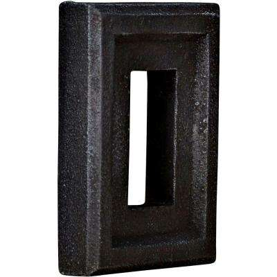 2 in. x 6-1/4 in. x 8-1/4 in. Graphite Urethane Universal Electrical Outlet for Stone and Rock Wall Panels