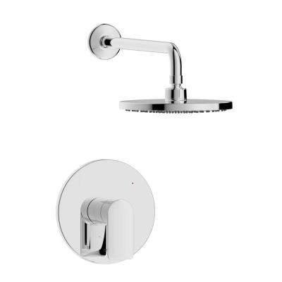 Pont Neuf Single Handle 1-Spray Round Shower Faucet in Chrome Valve Included