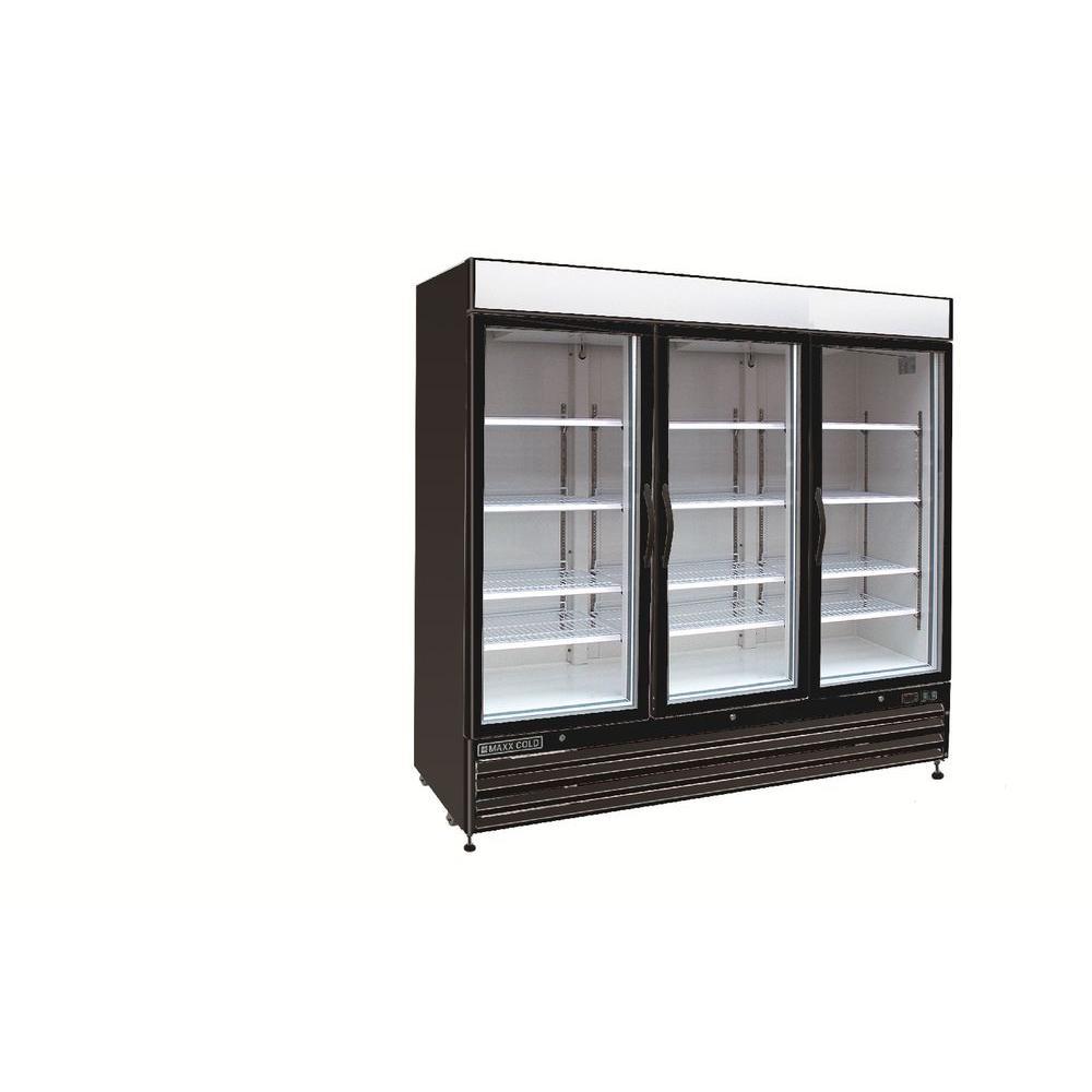 maxx cold x series 72 cu ft triple door merchandiser. Black Bedroom Furniture Sets. Home Design Ideas