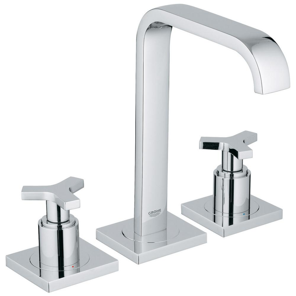 Allure 8 in. Widespread 2-Handle 1.2 GPM Bathroom Faucet in StarLight